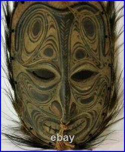 Vintage Papuan Mask Sepik River Wood Carving Papua New Guinea Mask