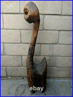 Vintage Retro Witco Cat Sculpture Mid Century Modern Tiki MCM Wood Carved