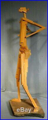 Vintage Robert Kuntz Indiana Modernist Sculpture Abstract Constructivist Cubist
