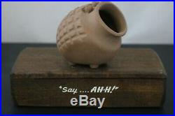 Vintage Robert Maxwell Beastie U Name It Pottery Sculpture with Wood Display
