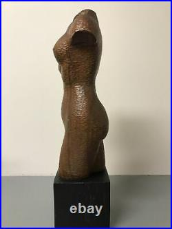 Vintage Sculpture Wood Carving Female Nude Torso Abstract Modern 20in Tall