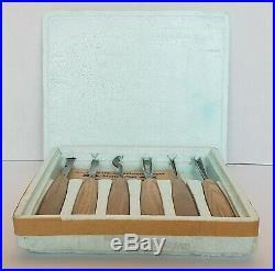 Vintage Set Of 6 Marke Pfeil Swiss Made Wood Carving Gouging Chisel Tools