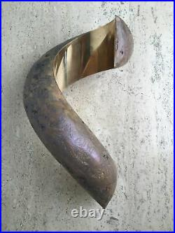 Vintage Signed Lou Pearson Brass Ribbon Sculpture Overture 1994