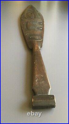 Vintage Sitka Alaska Carved Wooden Paddle
