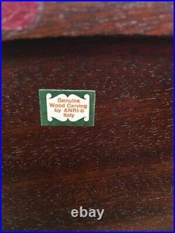 Vintage St. Bernard Signed Helmut Diller Wood Carving Anri Italian 10 V. Rare