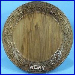 Vintage Swiss Black Forest Wood Carving Decorative PLATE Daily Bread Brienz
