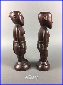 Vintage Tribal Polynesian Carved Sculpture Figures Micronesia Caroline Islands