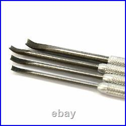 Vintage VIGOR-FRANCE PRECISION GOUGE Set of 4 CARVING TOOLS Wood-JEWELRY-Wax