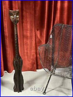 Vintage Witco Cat Sculpture Mid Century Modern Tiki 42 MCM Wood