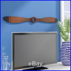 Vintage Wood Airplane Propeller Wall Decor Antique Model Aviation Display 48x5
