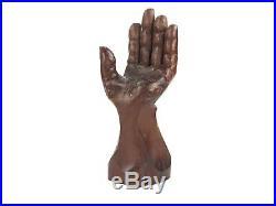 Vintage Wood Carved Detailed Folk Art Mid Century Modernist Hand Art Sculpture