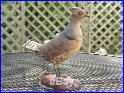 Vintage Wood Carving Bird Fowl 1940 Harold Sears Jr. #3