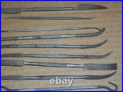 Vintage Wood Carving Tools Grobet Swiss Vallorbe riffler set of 30