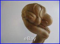 Vintage Wood Carving Yoga Buddha Yogi Sculpture Statue Icon Large 18 Inches
