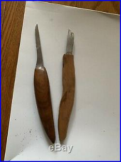 Vintage and Antique Wood Carving Knives