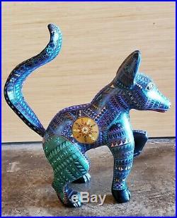Vintage -fox By Jacobo Angeles Alebrije Oaxacan Wood Carving