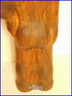 Vtg 25 Large Wood Carved Child Sculpture Figural Mid Century Modern Teak Floor