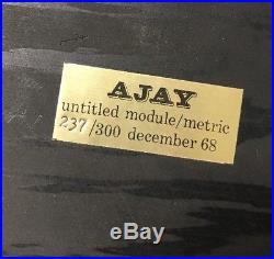 Vtg Abe Ajay Untitled Module Metric Wood Box Sculpture, 237 Of 300 Dec 1968