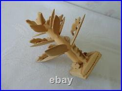 Vtg Benita Reino López Cordova NM Carved Folk Art Wood Sculpture Tree of Life