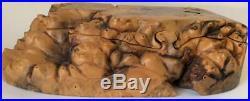 Vtg Don Rupard Burl Wood Puzzle Box buckeye secret treasure wooden sculpture