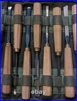 Vtg. Henry Taylor & Addis Sheffield England Wood Carving Gouges Chisels 13 Pcs