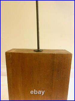 Vtg MCM Brutalist Metal Wood Abstract Modernist Cubist Industrial Art Sculpture