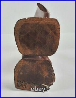 Vtg MID Century Danish Modern Knud Albert Wood Carved Bird Animal Sculpture