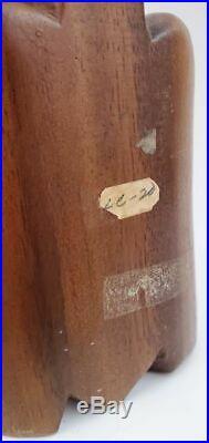 Vtg Mid Century MCM 20 WITCO Cat Tiki Atomic Modern Carved Wood Floor Sculpture