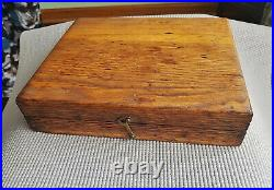Vtg Millers Falls #3 Best Wood Carving Tool Chisels Set with Rosewood Handle & Box