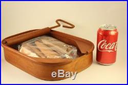 Vtg Pop Art Teak Wood Open Rolled Can of Sardines Wooden Fish Sculpture Figurine