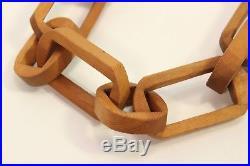 Vtg Tramp Folk Art Hand Carved Wood Puzzle 51 Chain Link Sculpture Signed Kolbe