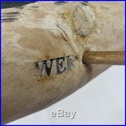 Vtg WEK Will Kirkpatrick Puffin Wood Carving Decoy carver 10 length