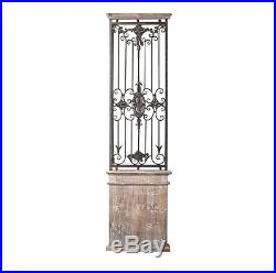Wall Gate Art Decor Wood Iron Metal Panel Home Decorative Antique Rustic Vintage