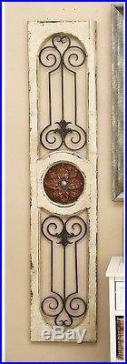 Wall Gate Art Decor Wood Metal Iron Panel Home Decorative Antique Rustic Vintage