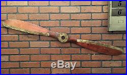 Wood Brown Airplane Propeller Aviation Collectible Wall Decor Vintage Retro NEW