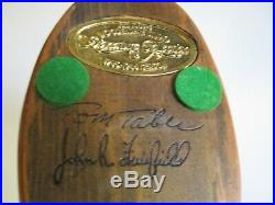 Wood Carving Sculpture Duck Decoy Signed Tom Taber John Fairfield Vintage