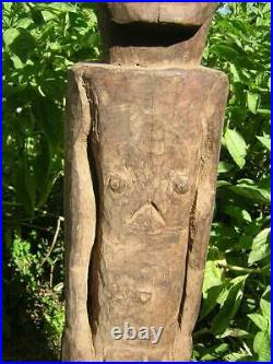 Wood Statue Ancestor Classic Old Vintage Hand Carving Artefact Timor Indonesia