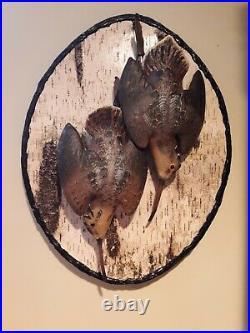 Woodcock Deadmount carving, Casey Edwards, Decoy