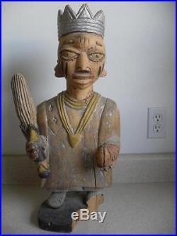YORUBA Nigeria LARGE 21 TALL WOOD SCULPTURE Tribal possibly Ceremonial vintage